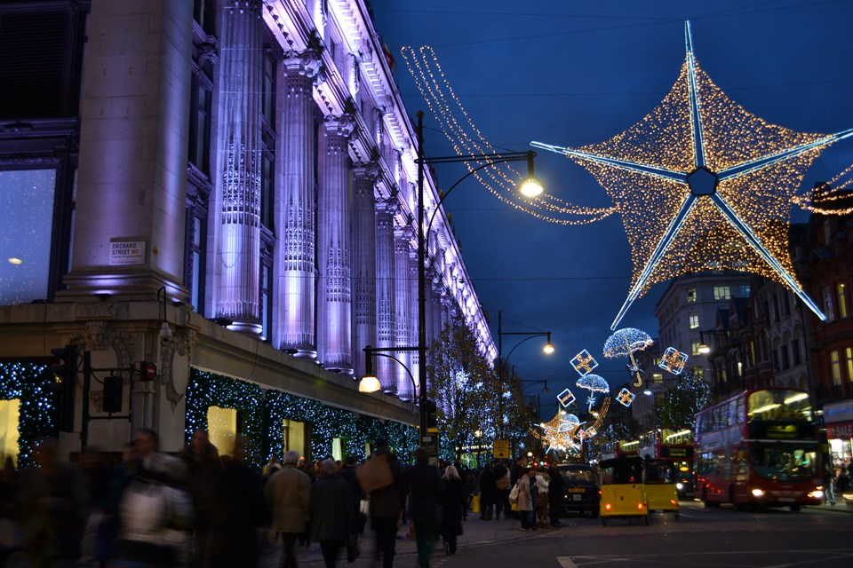 The Best Places for Christmas Shopping in London